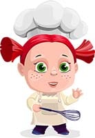 girl, cooking
